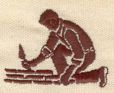 Embroidery Design: Bricklayer 1.65w X 2.17h