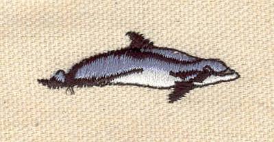 Embroidery Design: Dolphin K 0.53w X 1.54