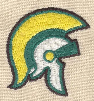Embroidery Design: Knight helmet 2.08w X 1.93h
