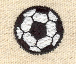 Embroidery Design: Soccer ball 1.00w X 1.00h
