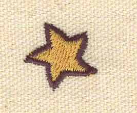 Embroidery Design: Mini star two tone 0.70w X 0.69h
