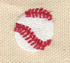 Embroidery Design: Baseball mini 0.72w X 0.72h