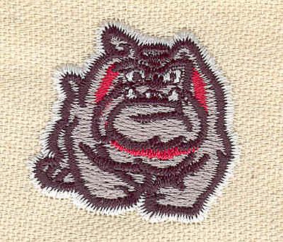 Embroidery Design: Bulldog 1.39w X 1.50h