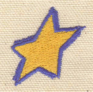 Embroidery Design: Star E 1.28w X 1.25h