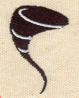 Embroidery Design: Twister 1.76w X 1.21h
