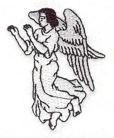 """Embroidery Design: Angel 1.76""""w X 2.19""""h"""