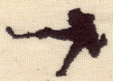 Embroidery Design: Hockey Player 1.15w X 1.76h