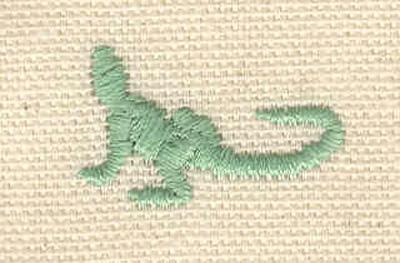 Embroidery Design: Iguana B 0.65w X 1.05h