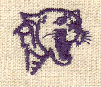 Embroidery Design: Cougar head 1.13w X 1.31h