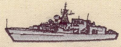 Embroidery Design: Naval vessel 1.25w X 3.40h