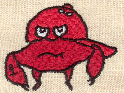 Embroidery Design: Crab 2.76w X 2.76h