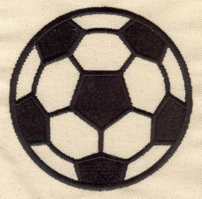 Embroidery Design: Soccer ball large 4.12w X 4.12h