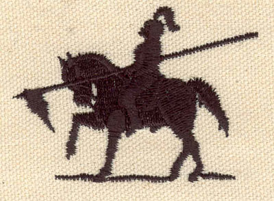 Embroidery Design: Knight C 1.78w X 2.44h