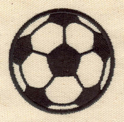 Embroidery Design: Soccer ball 2.43w X 2.49h