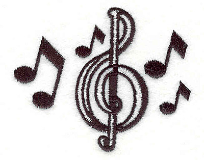 Embroidery Design: Music Notes2.83w X 2.31h