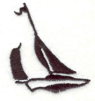 "Embroidery Design: Sailboat H 1.95""w X 1.72""h"
