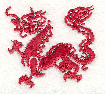 "Embroidery Design: Dragon E1.95""Hx1.78""W"