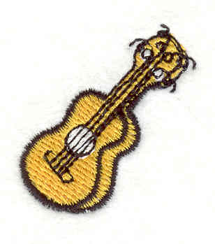 """Embroidery Design: Guitar 3 1.21"""" X 1.35"""""""