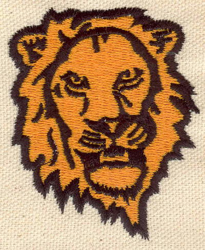 Embroidery Design: Lion head 2.59w X 2.13h