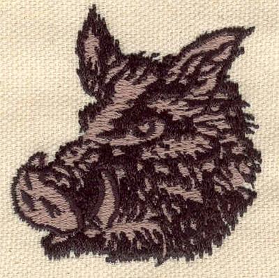 Embroidery Design: Boar  2.11w X 2.00h
