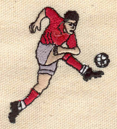 Embroidery Design: Soccer Player 2.17w X 1.84h