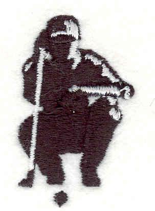 "Embroidery Design: Golfer 1.83""w X 1.14""h"