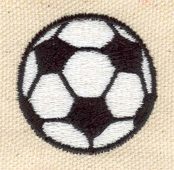 Embroidery Design: Soccer Ball 1.39w X 1.39h