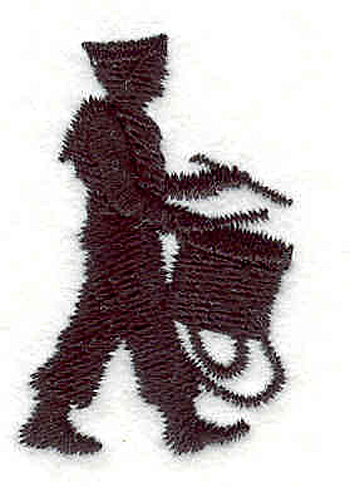 "Embroidery Design: Drummer Boy 1.06"" X 1.70"""