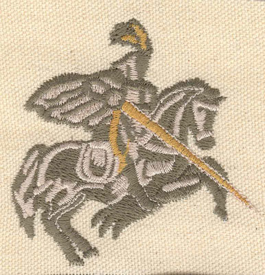 Embroidery Design: Knight D 2.69w X 2.71h