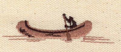Embroidery Design: Canoe 0.69w X 2.72h