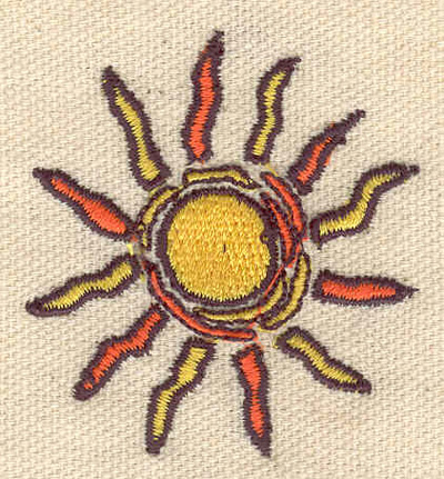 Embroidery Design: Sun B 1.87w X 2.05h