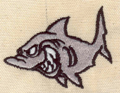 Embroidery Design: Shark 1.96w X 1.61h
