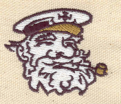 Embroidery Design: Captain 1.62w X 1.91h