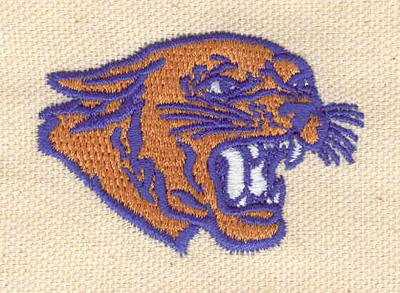 Embroidery Design: Cougar head 1.46w X 2.10h