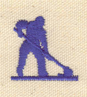Embroidery Design: Janitor 1.13w X 1.17h