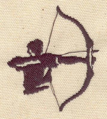 Embroidery Design: Archer 2.45w X 2.09h