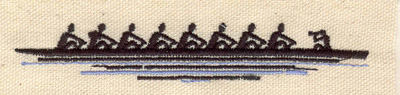 Embroidery Design: Row boat  0.73w X 4.43h