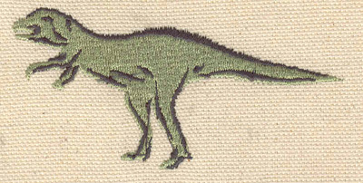 Embroidery Design: Allosaurus 1.64w X 3.35h