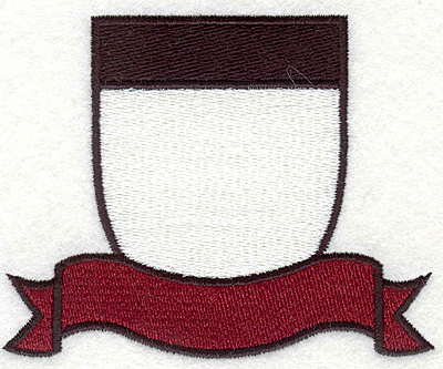 """Embroidery Design: Shield and Banner3.77""""x3.03"""""""