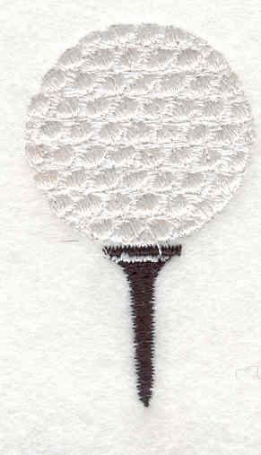 "Embroidery Design: Golf ball 2.13""w X 1.28""h"