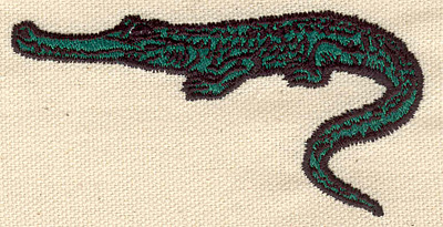Embroidery Design: Alligator C 1.82w X 3.61h