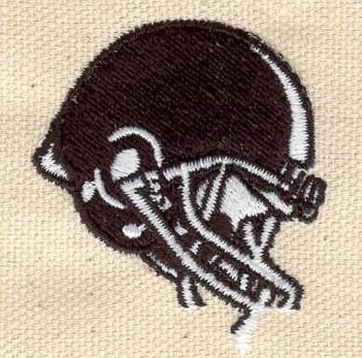 Embroidery Design: Football helmet black 1.80w X 1.55h