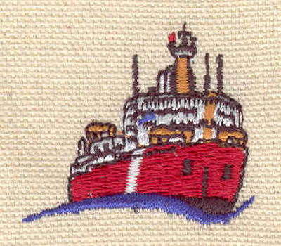 Embroidery Design: Steamboat 1.32w X 1.49h