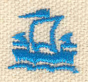 Embroidery Design: Sailing ship 0.65w X 0.71h