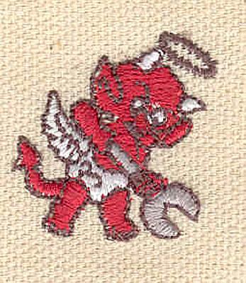 Embroidery Design: Devil E 1.10w X 1.03h
