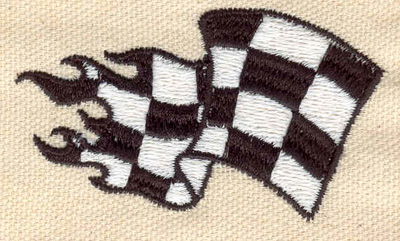 Embroidery Design: Racing Flag 1.54w X 2.65h