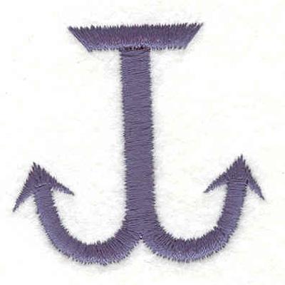 "Embroidery Design: Anchor E 1.70""w X 1.76""h"