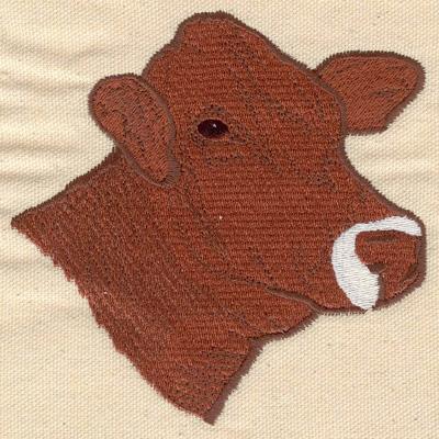 Embroidery Design: Cow head 4.30w X 4.30h
