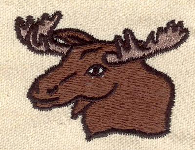 Embroidery Design: Moose head A 2.60w X 2.00h