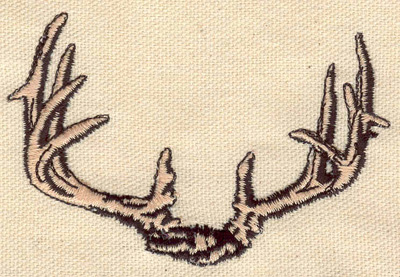 Embroidery Design: Antlers 3.60w X 2.30h